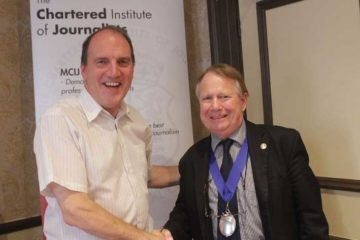 Simon Hughes MP with CIoJ President Paul Leighton