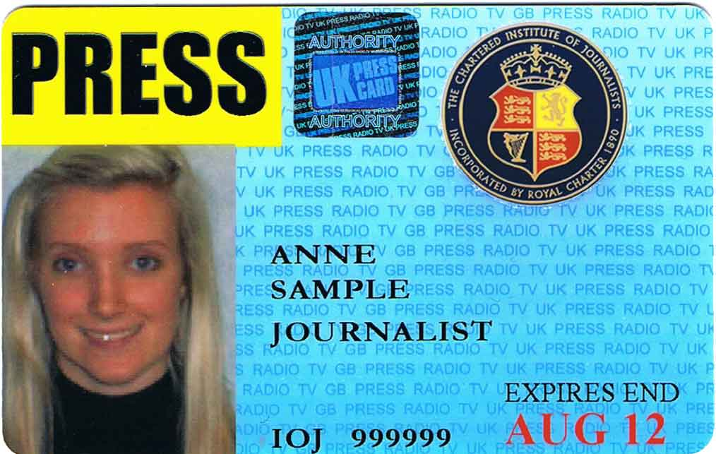 Press Journalists Of The – Institute Cards Chartered